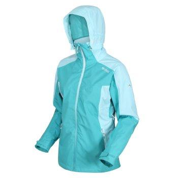 Women's Oklahoma VI Waterproof Hooded Walking Jacket Turquoise Cool Aqua
