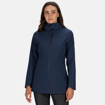 Women's Pulton Waterproof Hooded Walking Jacket Navy