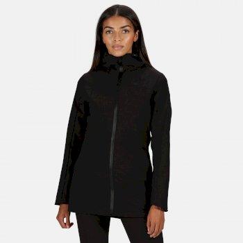 Women's Pulton Waterproof Hooded Walking Jacket Black