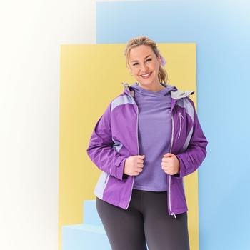 Women's Highton Stretch II Waterproof Jacket Plum Jam Lilac Bloom
