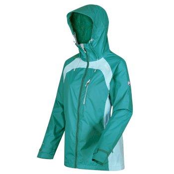 Women's Highton Stretch II Waterproof Jacket Turquoise Cool Aqua
