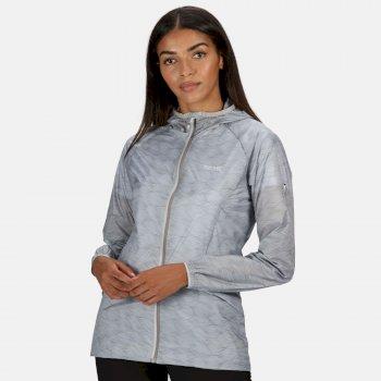 Women's Turla Lightweight Waterproof Hooded Walking Jacket Light Steel Wave