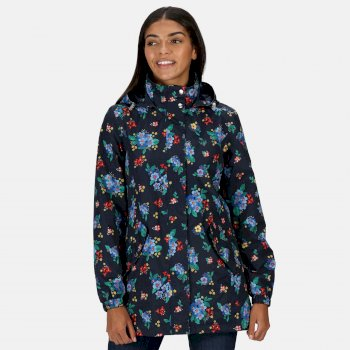 Women's Pedrina II Waterproof Hooded Jacket Navy Floral