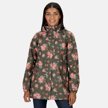 Women's Pedrina II Waterproof Hooded Jacket Grape Leaf Floral