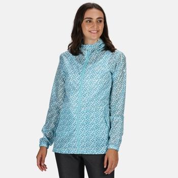 Women's Printed Pack-It Waterproof Jacket Cool Aqua Edelweiss