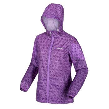 Women's Printed Pack-It Waterproof Jacket Lilac Bloom Floral