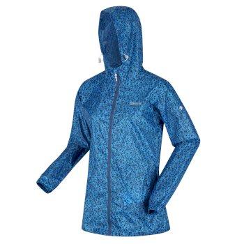 Women's Printed Pack-It Waterproof Jacket Blue Aster Floral
