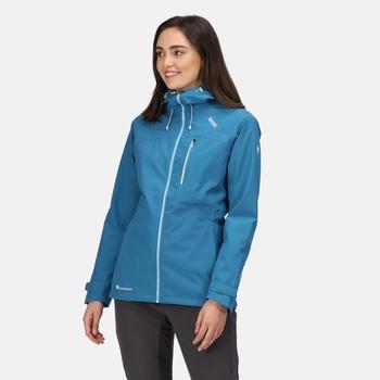 Damska kurtka przeciwdeszczowa Britedale niebieska