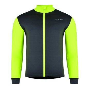 Men's Vortex Cycle Jersey Ebony Fluro Yellow