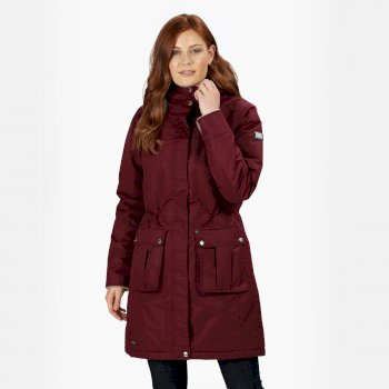 Women's Roanstar III Waterproof Insulated Parka Jacket Burgundy