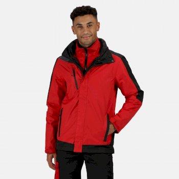 Men's Contrast 3 in 1 Jacket Classic Red Black