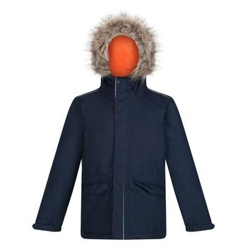Kids' Cadet Waterproof Insulated Hooded Parka Jacket Navy Magma