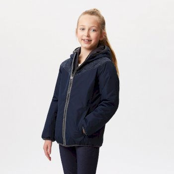 Kids' Reflector Waterproof Insulated Jacket Navy
