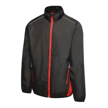 Men's Athens Tracksuit Jacket Black Classic Red
