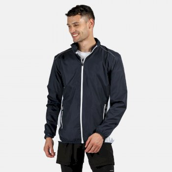 Men's Athens Tracksuit Jacket Navy/White