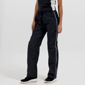 Women's Athens Tracksuit Bottoms Navy/White