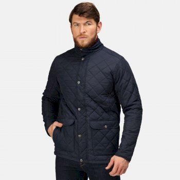 Men's Diamond Insulated Quilted Jacket Navy