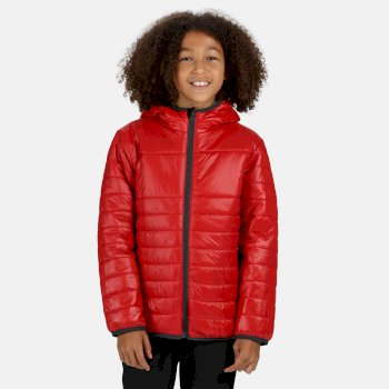 Kids' Stormforce Thermal Insulated Hooded Jacket Classic Red