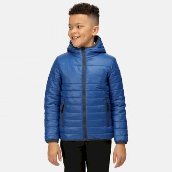 Kids' Stormforce Thermal Insulated Hooded Jacket Royal Blue