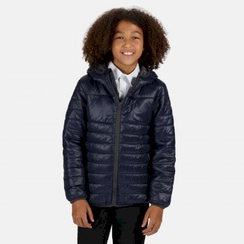 Kids' Stormforce Thermal Insulated Hooded Jacket Navy