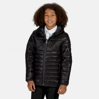 Kids' Stormforce Thermal Insulated Hooded Jacket Black
