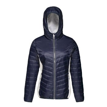 Women's Lake Placid Insulated Hooded Jacket Navy White
