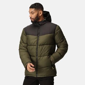 Men's Regime Insulated Jacket Dark Khaki Black