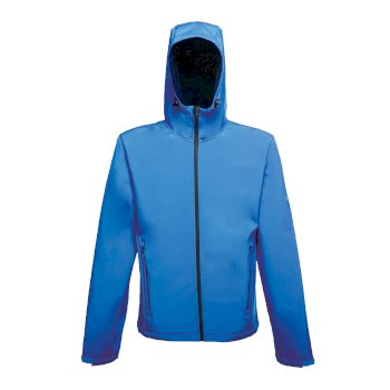 Men's Arley II Printable Hooded Softshell Jacket Oxford Blue Navy
