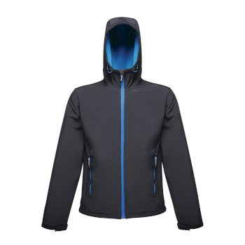 Men's Arley II Printable Hooded Softshell Jacket Navy Oxford Blue
