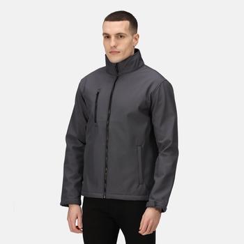 Men's Ablaze 3 Layer Softshell Jacket Seal Grey Black