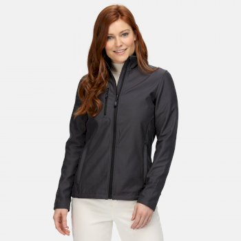 Women's Honestly Made Recycled Softshell Jacket Seal Grey