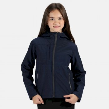 Kids' Octagon 3 Layer Softshell Hooded Jacket Navy