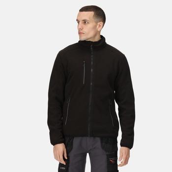 Men's Omicron III Waterproof Breathable Full Zip Fleece Black