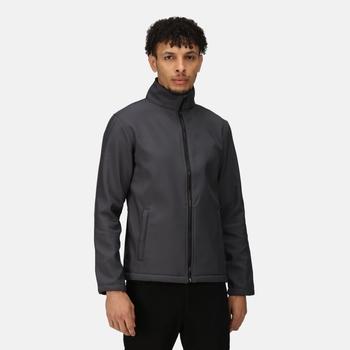 Men's Ablaze Printable Softshell Jacket Seal Grey Black