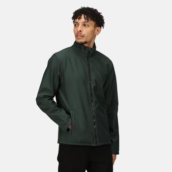 Men's Ablaze Printable Softshell Jacket Dark Spruce Black