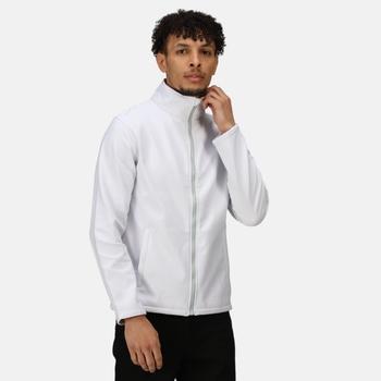 Men's Ablaze Printable Softshell Jacket White Light Steel