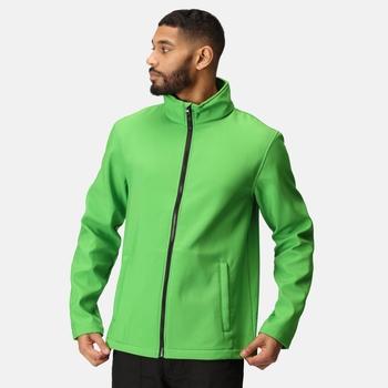 Men's Ablaze Printable Softshell Jacket Extreme Green Black