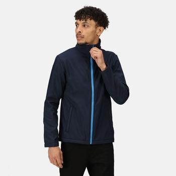 TRA628_9SI: Mens Ablaze Printable Softshell Jacket Navy French Blue