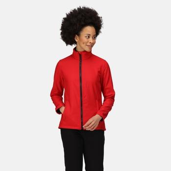 Women's Ablaze Printable Softshell Jacket Classic Red Black