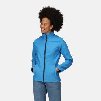 Women's Ablaze Printable Softshell Jacket French Blue Navy