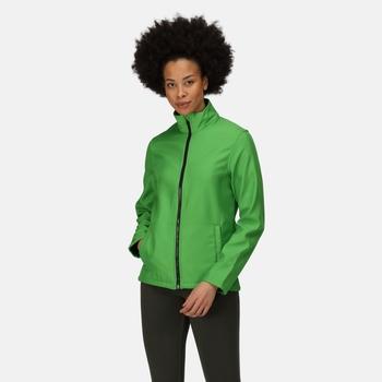 Women's Ablaze Printable Softshell Jacket Extreme Green Black