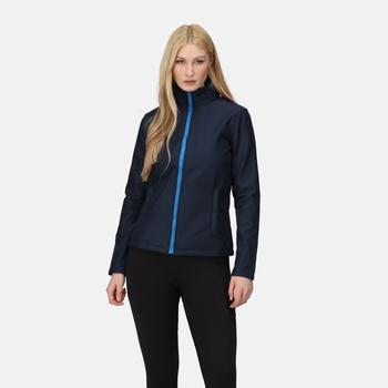 Women's Ablaze Printable Softshell Jacket Navy French Blue