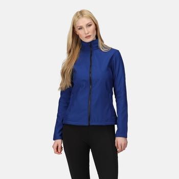 Women's Ablaze Printable Softshell Jacket New Royal Black