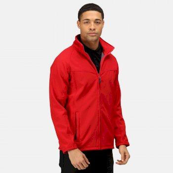 Men's Uproar Interactive Softshell Jacket Classic Red Seal Grey