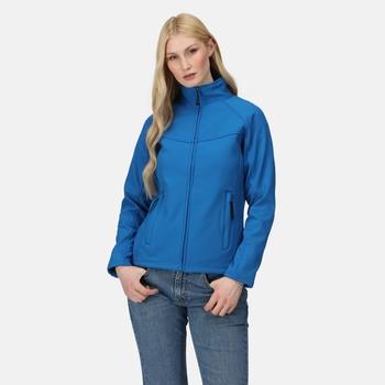 Women's Uproar Interactive Softshell Jacket Oxford Blue Seal Grey