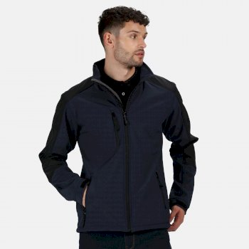 Men's Hydroforce 3 Layer Membrane Hooded Softshell Jacket Navy