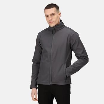 Men's Reid Softshell Jacket Seal Grey Black