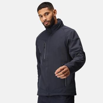 Men's Apex Waterproof Breathable Membrane Softshell Jacket Navy