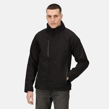 Men's Apex Waterproof Breathable Membrane Softshell Jacket Black