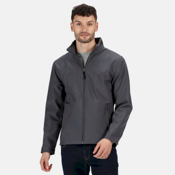 Men's Classic Printable Lightweight Softshell Jacket Seal Grey